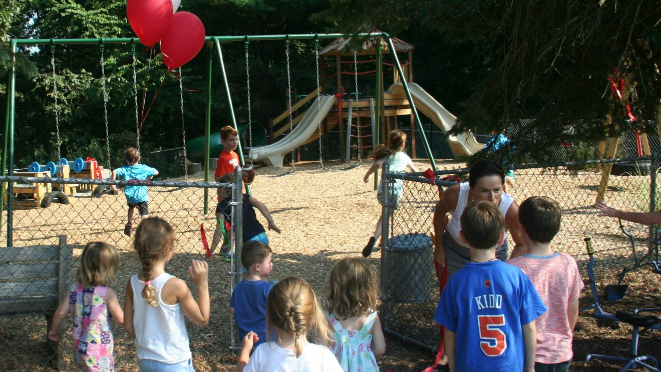Zion's Hill Preschool Gets New Playground that Fits Right In