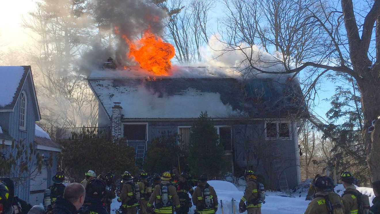 Fire Ravages Range Rd. Home in Wilton
