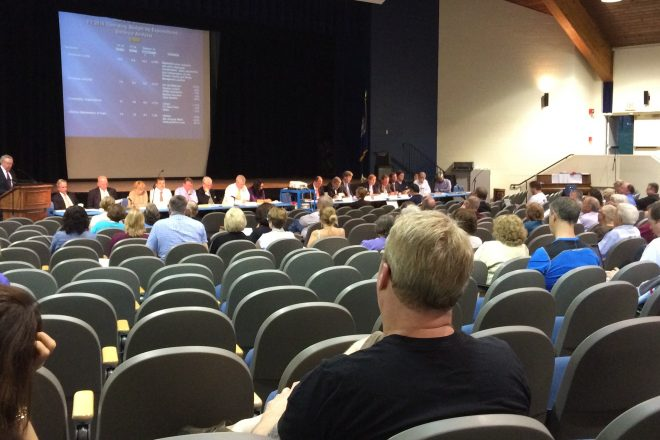 Officials Prep for Eventful Town Meeting:  Motions to Cut Budget, Time Limits & More