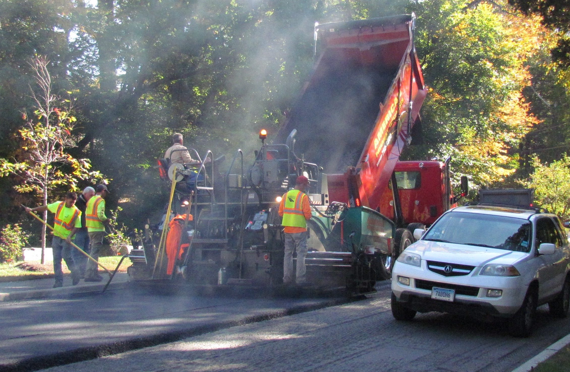 Rain Hampers Wilton's Road Paving Program