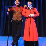 "Good friends offstage, Simon Alexander and Hailey Smith play the central characters of Bert and Mary in ""Mary Poppins"""