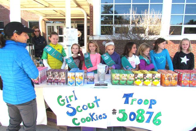 It's Girl Scout Cookie Booth Time in Wilton!
