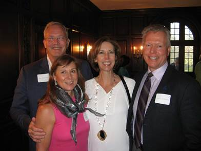 Wilton residents Stu and Margie Holcombe and Beth and Vytas Kisielius