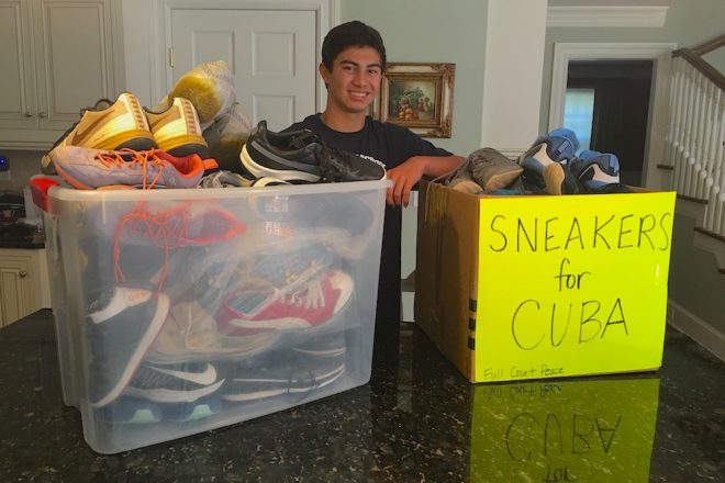 WHS Basketball Star's Sneaker Drive a Slam Dunk for Cuban Peace Trip