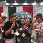 LaBant (far L) and Pisani (third from R) at the Las Vegas Pizza Show