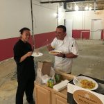Happy Wok take out at the new space, with Schoolhouse cooks Lisa Hoang & Lenny Pisani