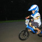 Dave Cote's young son on his bike...