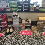 A wide range of shoes for all seasons - including a few pairs of Sorel boots not pictures - are 50% off.