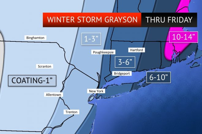 Snowstorm Likely to Dump Several Inches of Snow on Wilton by Thursday AM