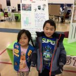 Kindergarten twins Brianna and Alex Shiue researched the dangers posed by straws to the environment, and their project was one that was featured at the Faire.