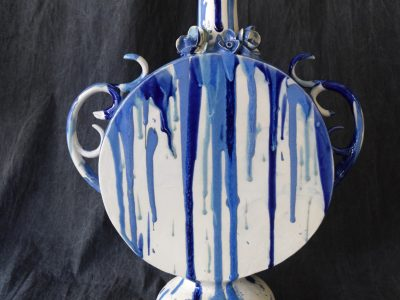Jeremy wong: vase with blue detail