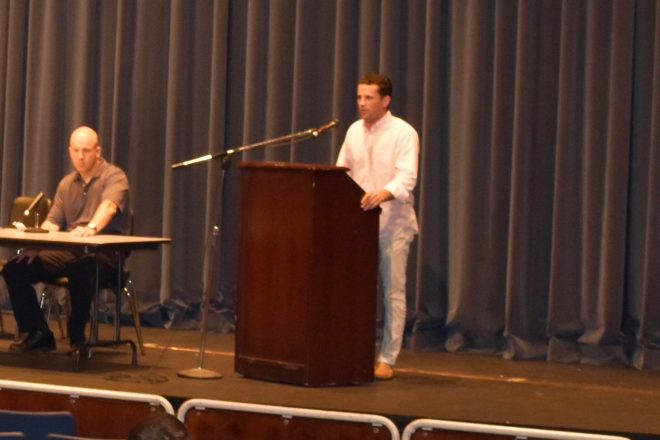 Real World Lessons:  WHS Alum's Substance Abuse Warnings, and Teen Dating Violence Presentation