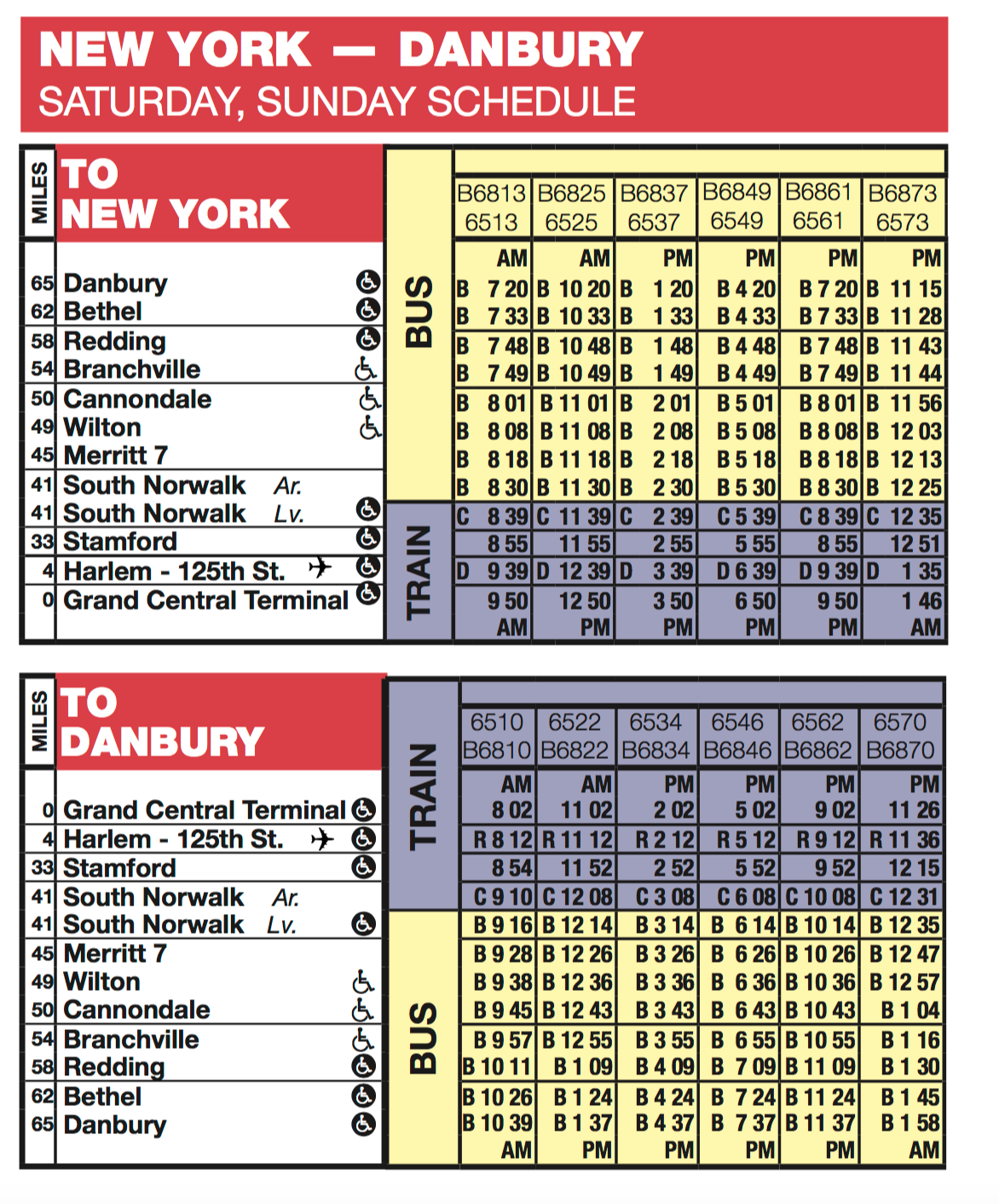 Expect Buses, Not Trains on Danbury Line Weekend Service