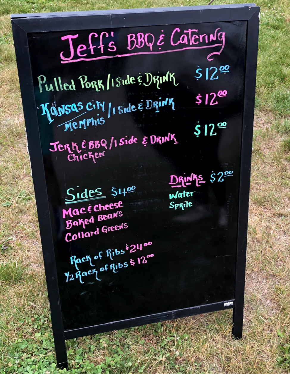 Jeffs BBQ menu
