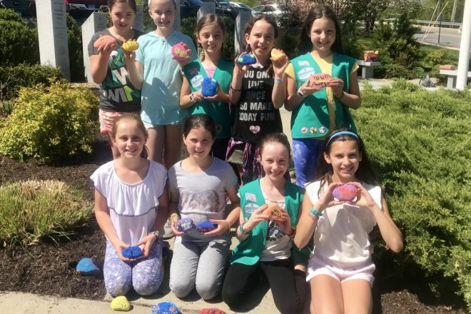 Kindness Rocks with Wilton Girl Scouts