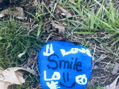 Girl Scouts - Smile Kindness Rock