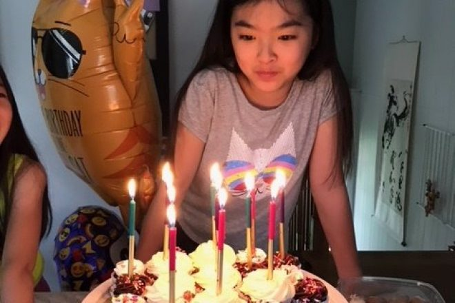 After Emergency Spinal Cord Tumor Surgery, 12-YO Issy Kwei Needs Wilton's Help