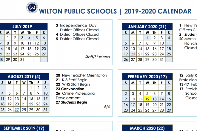Board of Education Approves 2019-2020 and 2020-2021 School Year Calendars