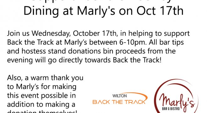 Back the Track Fundraiser at Marly's Bistro