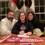 BWall with parents - U of Mass