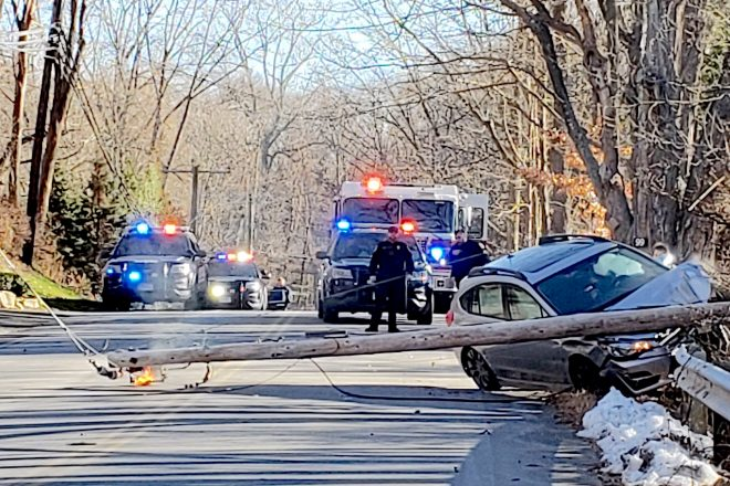 Thanksgiving Day Single-Car Accident Closes Cheesespring Rd. and Knocks Out Power
