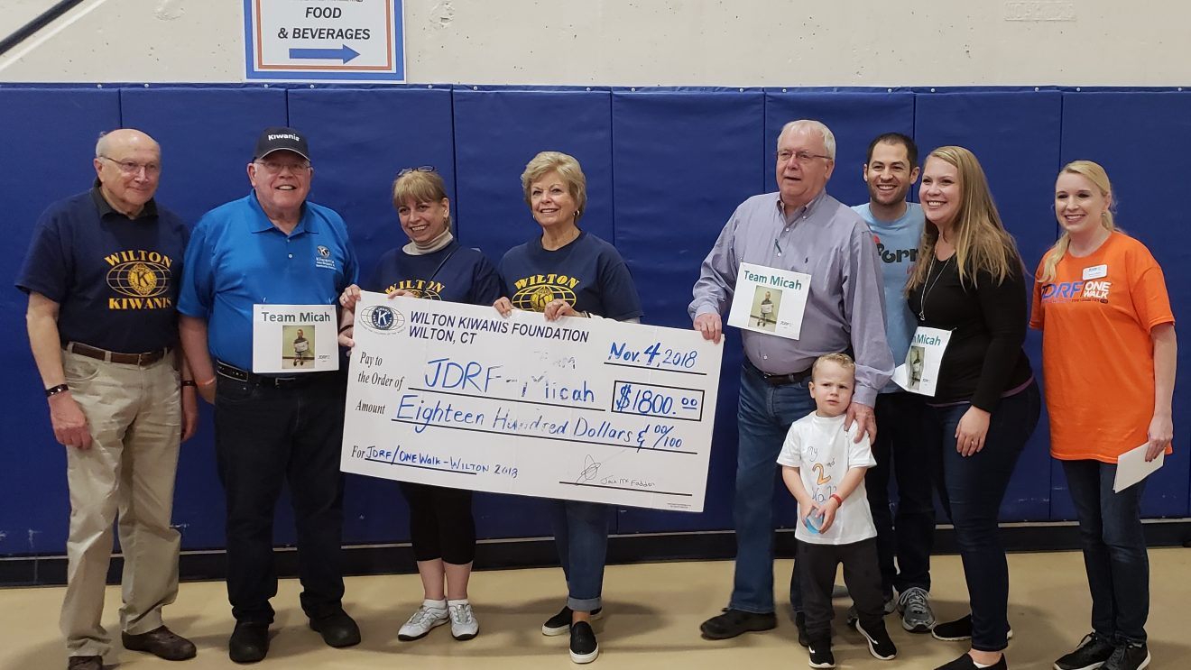 "Wilton Kiwanis Club Represents and Donates to Juvenile Diabetes Foundation at ""One Walk"" Event"
