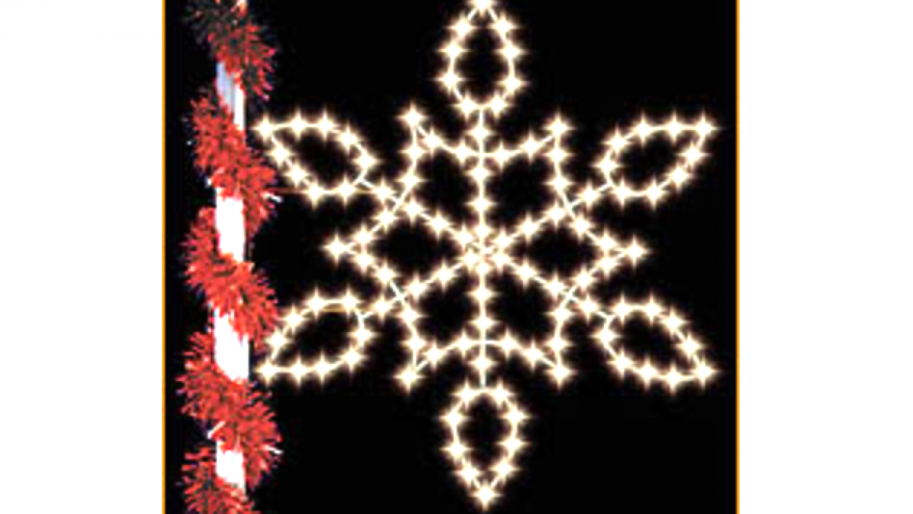 New Lighted Snowflakes to Adorn Wilton Center Lampposts for Holiday Season