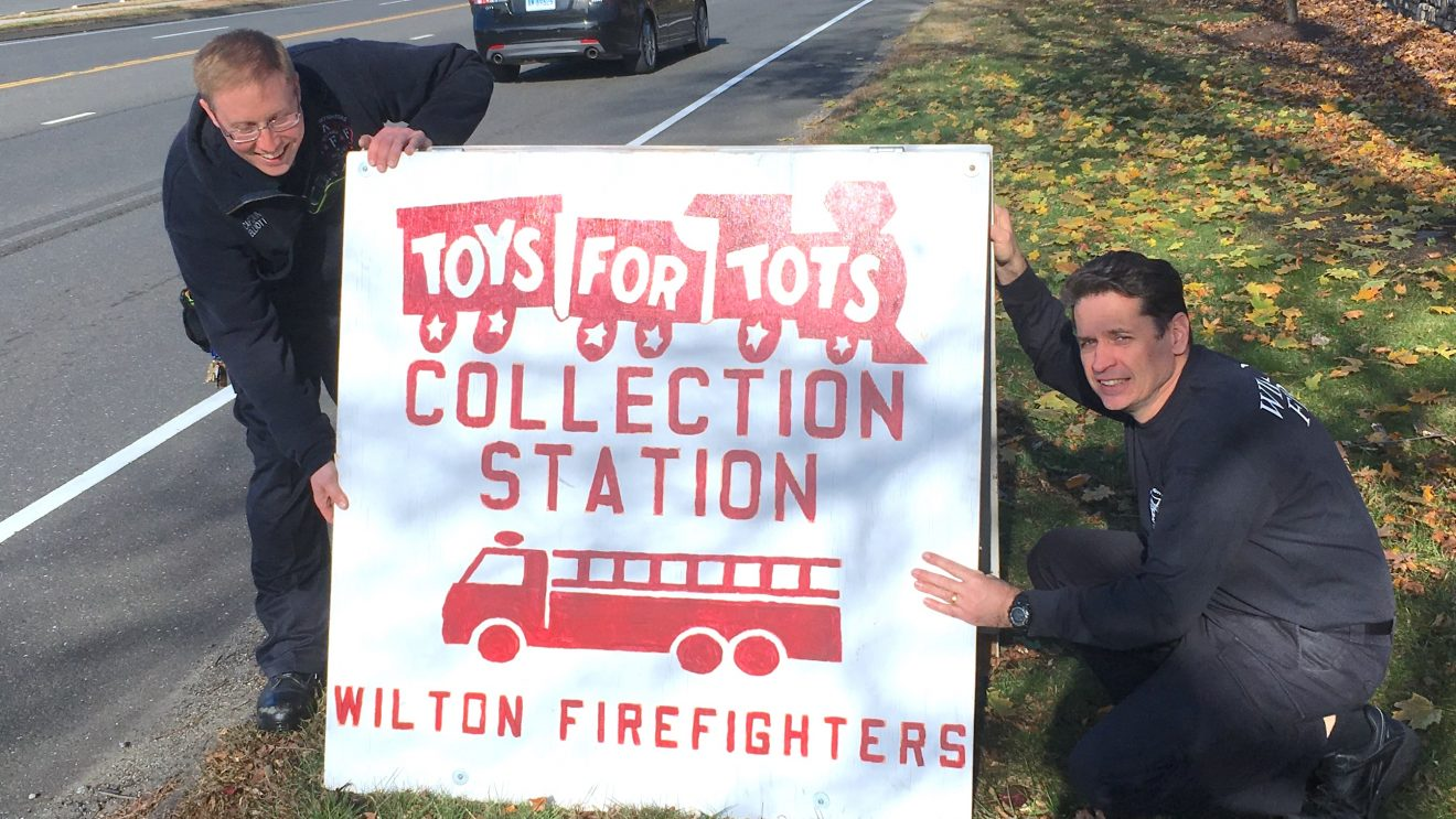 Wilton Firefighters Ignite 2018 Toys for Tots Toy Drive