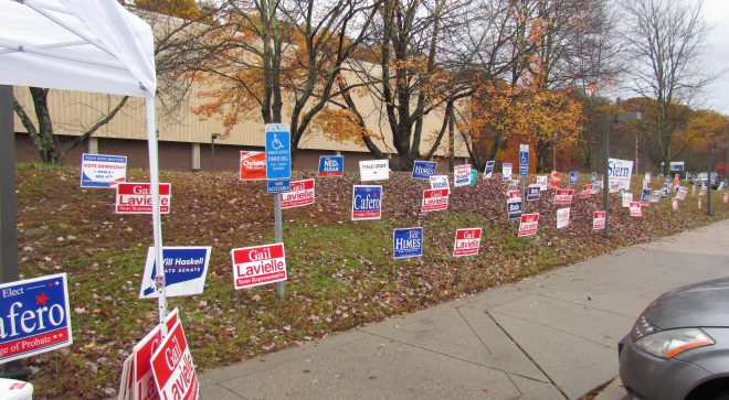 Wilton Officials:  Town Can't Block Political Campaign Signs on Public Property