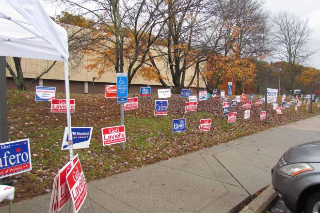 Town Officials Discuss Political Signs on Public Property for Upcoming Campaigns