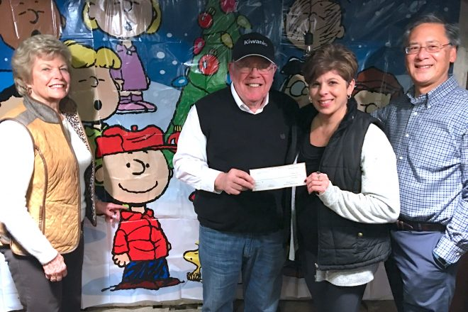 Kiwanis Takes a Seat…and Buys a Chair at Wilton Playshop