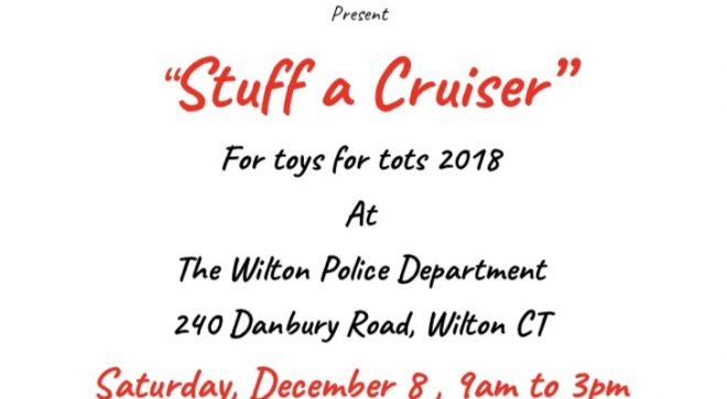 Toys for Tots Stuff a Cruiser with Wilton Police & Fire