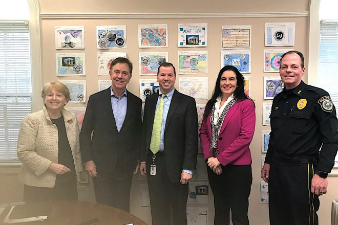 Governor Lamont Visits Wilton, Meets with Town's Top Officials