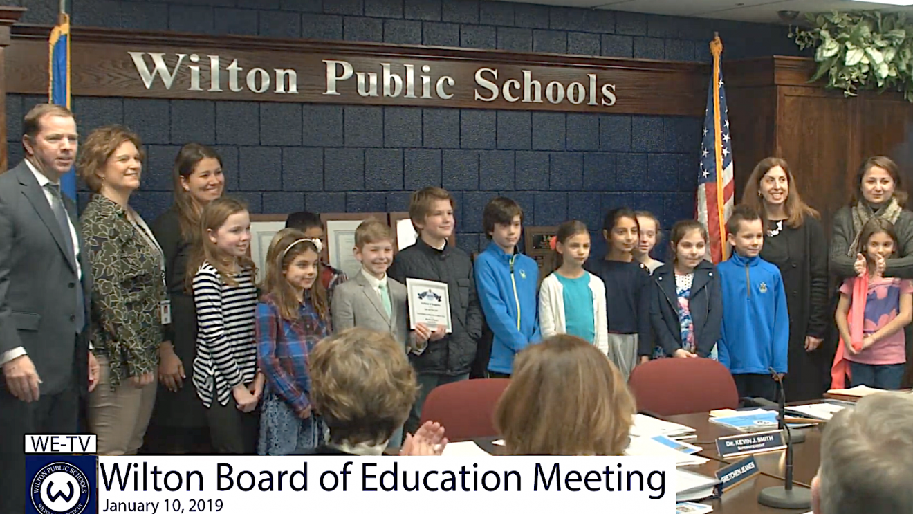 Salute to Excellence:  BOE Award Illustrates the New Way of Teaching in Wilton Classrooms [VIDEO]