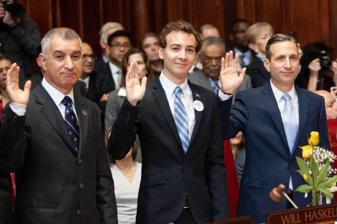 Wilton's State Legislators Sworn In Wednesday; Lavielle & Haskell's First Day Photos, Video Messages