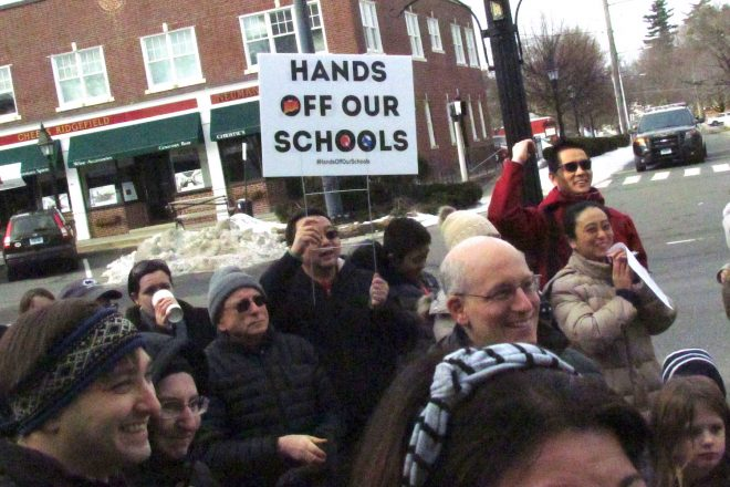 Wilton Represents at Weekend Hands Off Our Schools Rally [VIDEO]