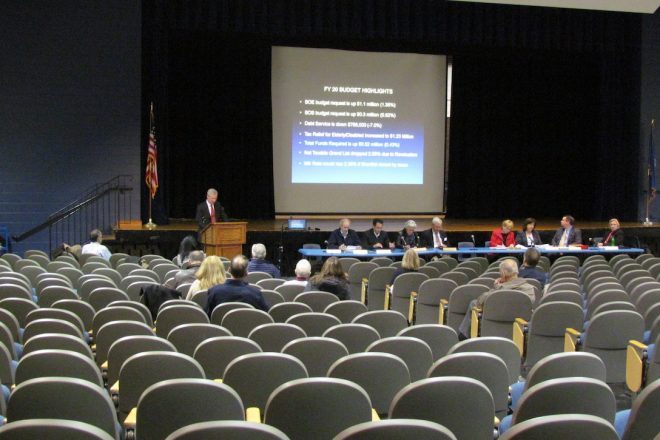 BOF Holds Public Hearing on Town Budget (for Audience of 10)