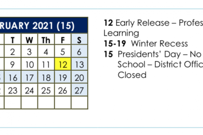 Weeklong February Break Likely to Return to School Calendar