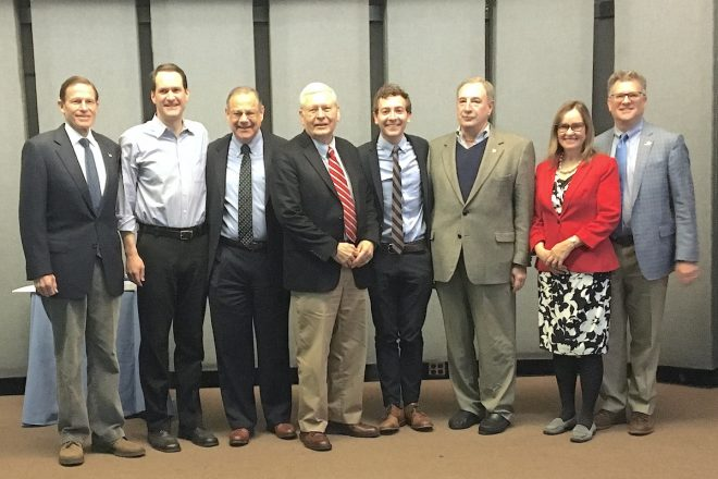 Blumenthal, Himes, Haskell & More Join Wilton Dems to Honor Volunteers Tartell & Kalamarides