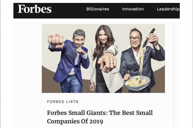 "Forbes Names Business Owned by Wilton's Jeff Snyder to ""Best Small Companies of 2019"" List"
