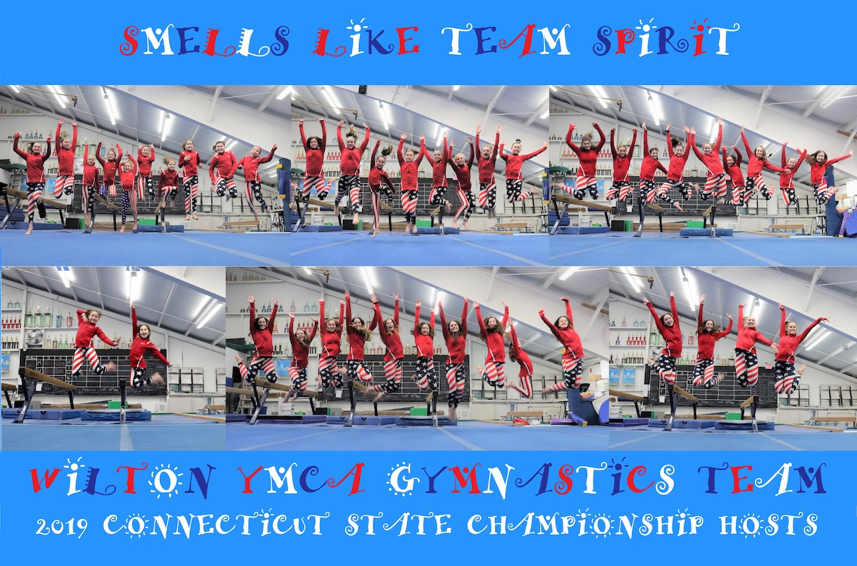 Wilton Y Gymnasts Proudly Sport Red, White and Blue at CT