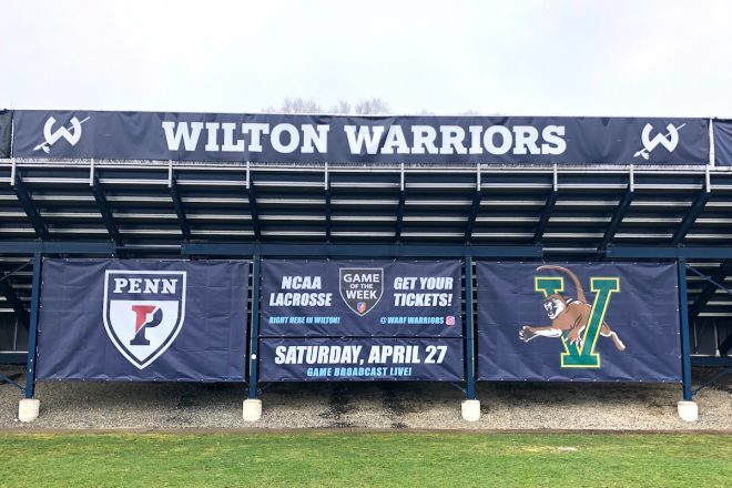 Wilton to Host Men's D1 Lacrosse Game, #6 UPenn vs #20 Vermont