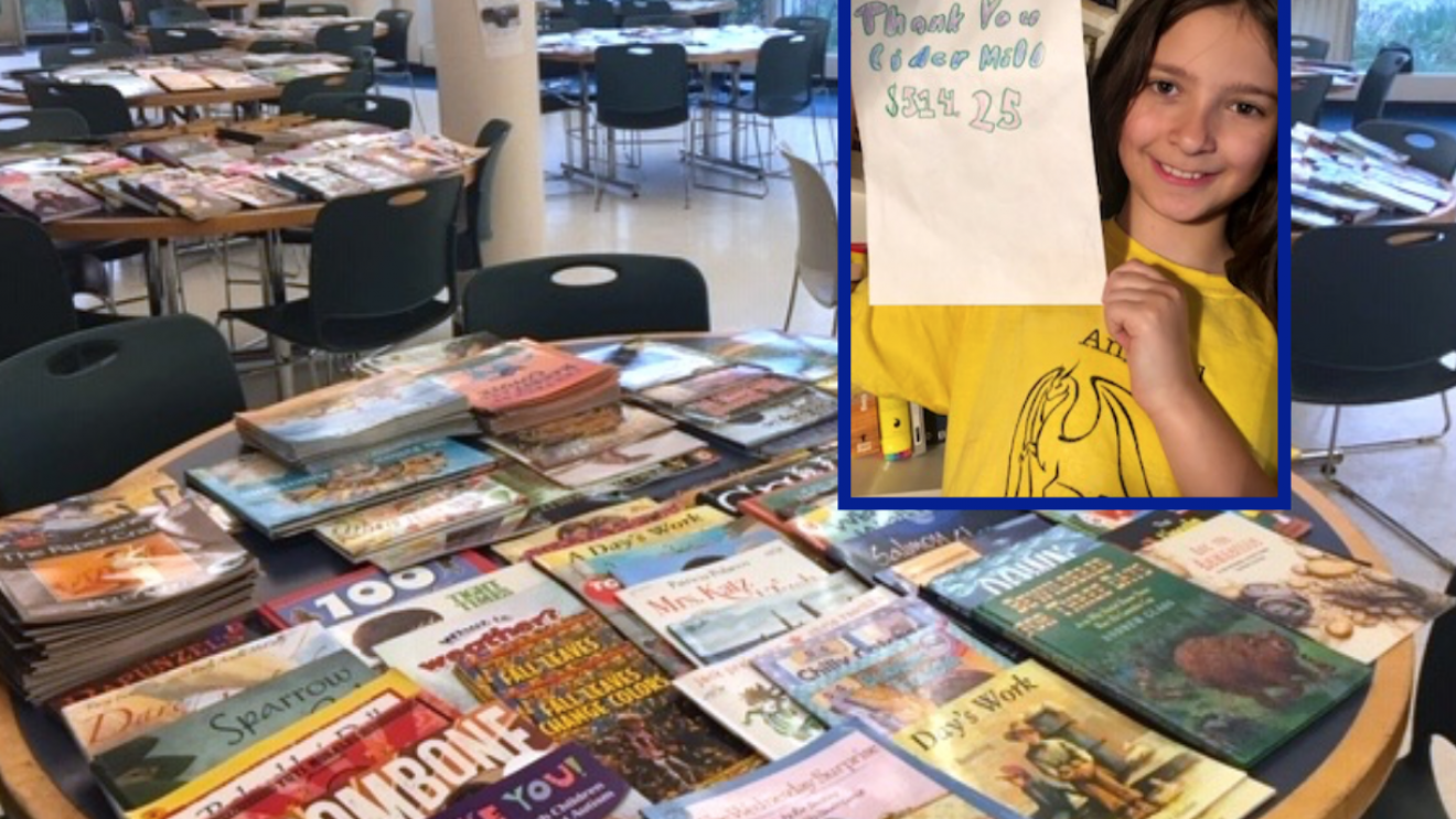 Cider Mill Students Raise $500+ and Donate Books with Book Sale