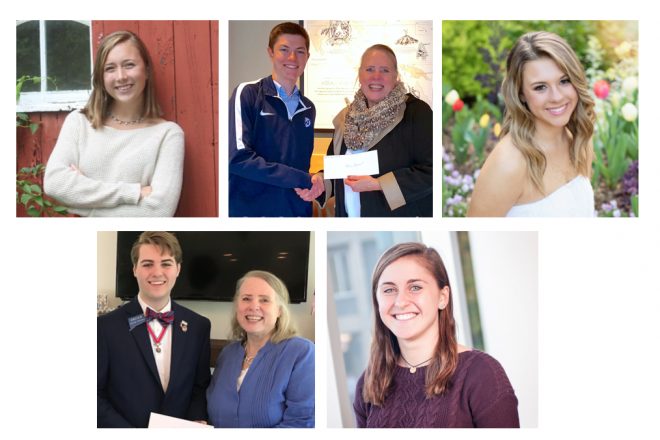 Scholarships Announced:  Wilton's PEO and DAR Chapters