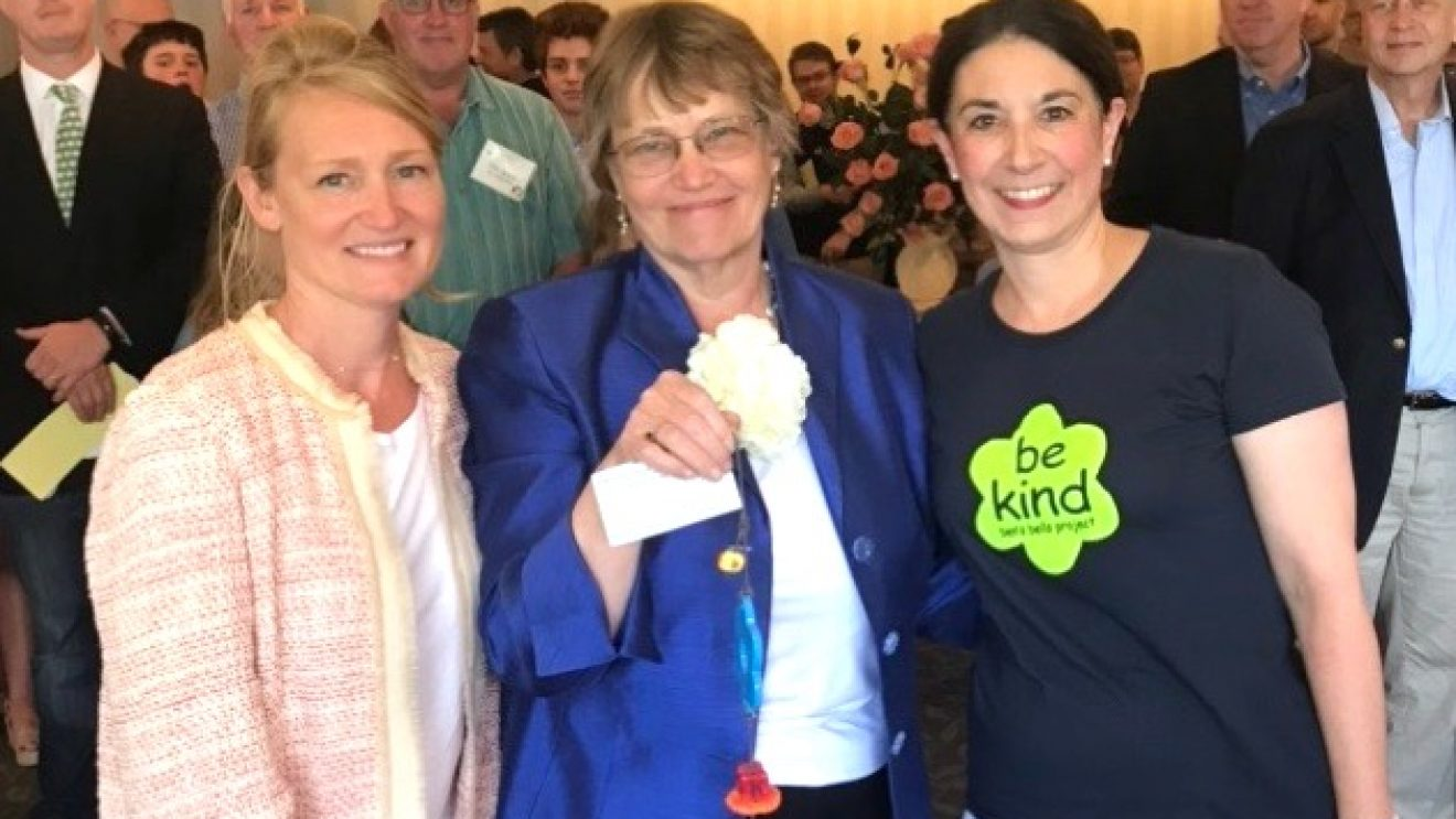 "Wilton's Becky Hudspeth Receives Ben's Bell Award for Being ""Gift of Kindness"""