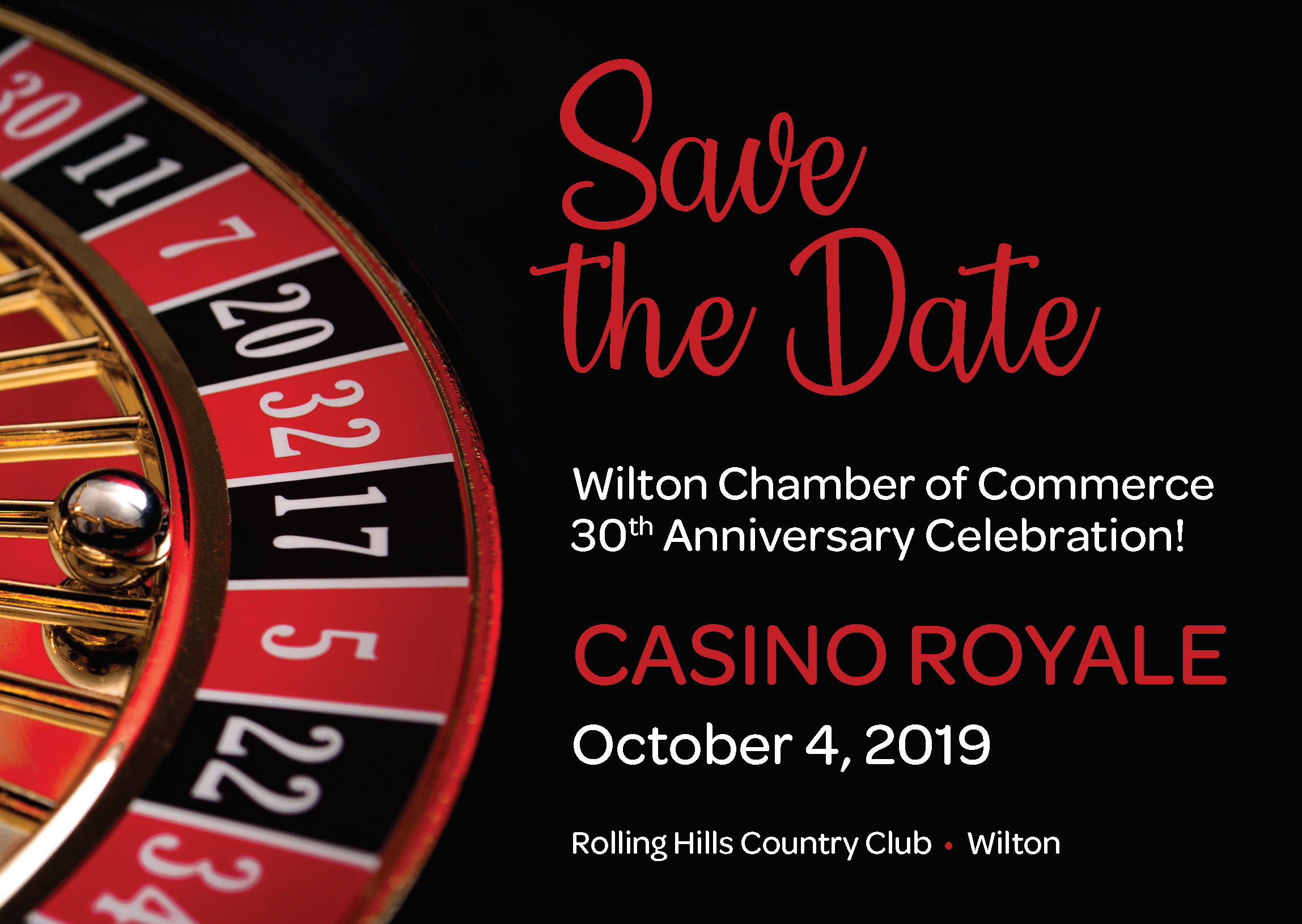 Celebrate Wilton Chamber's 30th Anniversary at Casino Royale