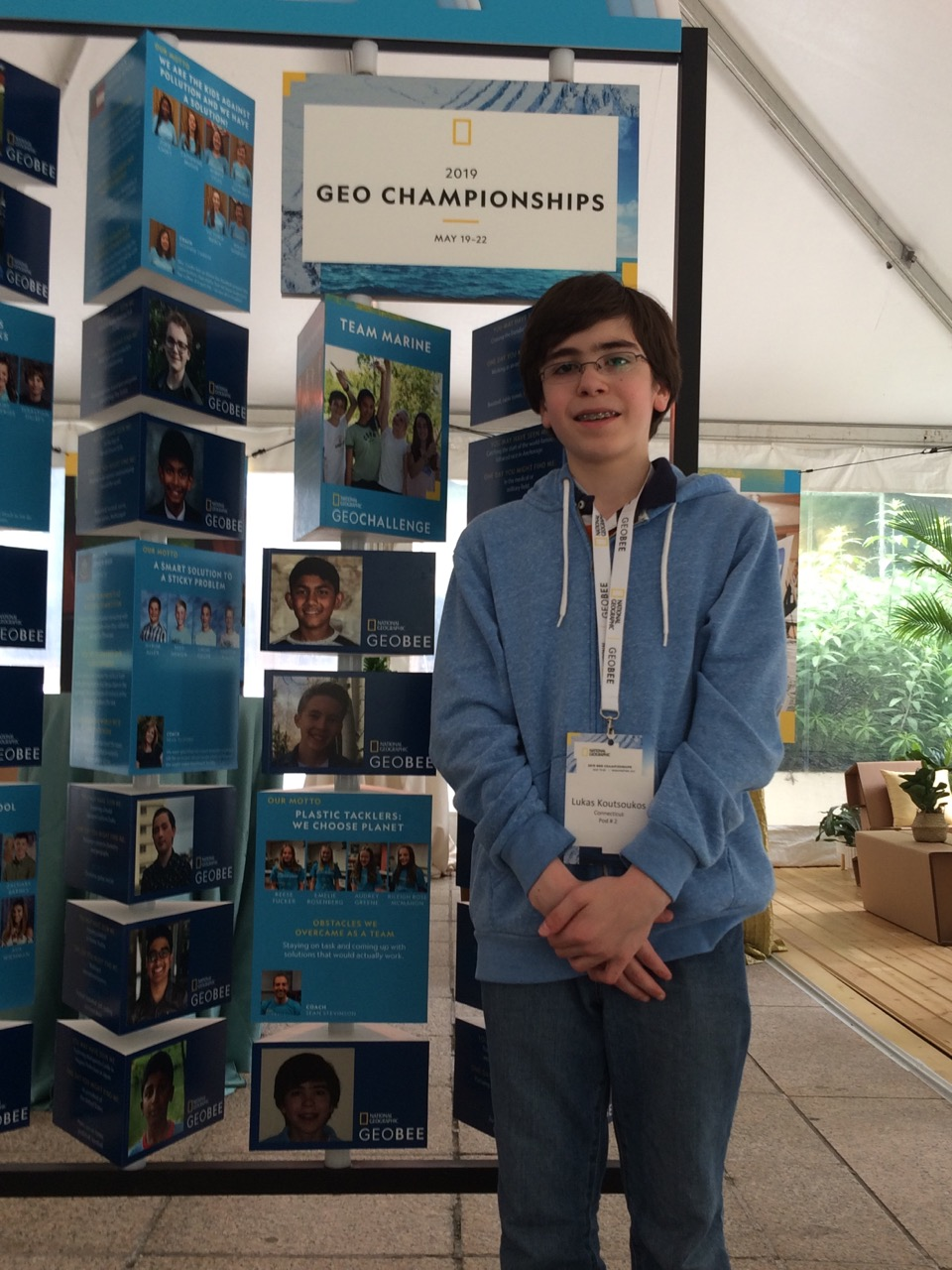 Lukas at the Geo Bee National Final