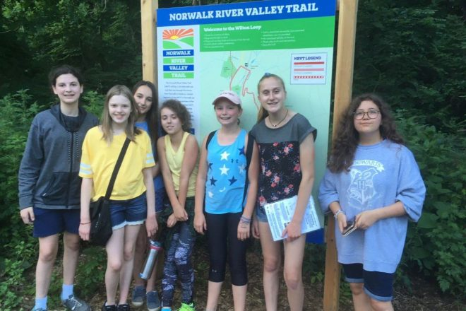 Team Work, Trees, and Treasure:  Girl Scouts Inspire Adventure on the NVRT