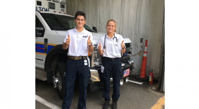 Teen EMTs–Pt. 1 Reading, Writing, and Riding the Ambulance:  Q&A with Wilton's Teen EMTs