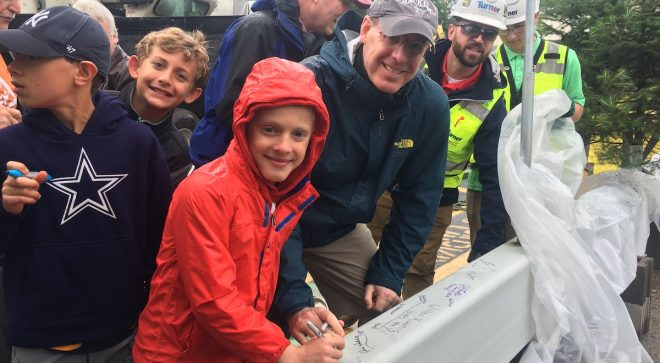 [PHOTOS] 100s Turn Out for Wilton Y Public Beam Signing, Keeping Community at Center–Literally & Figuratively